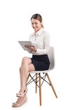 Full length portrait of Beautiful Young Asian Business woman sit Stock Images