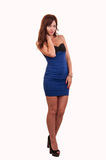 Full length portrait of beautiful young woman in dress Royalty Free Stock Photos