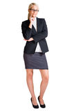 Full length portrait of blond business woman. Stock Image