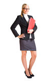 Full length portrait of blond business woman. Royalty Free Stock Photos