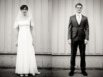 Full Length portrait of bride end groom Royalty Free Stock Photography