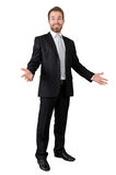 Full length portrait of a business with arms opened Royalty Free Stock Photography
