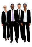 Full length portrait of business colleagues. Posing against white background stock photo