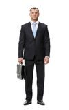 Full-length portrait of business man with case Royalty Free Stock Images