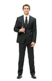 Full-length portrait of business man with folder Stock Image
