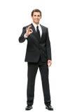 Full-length portrait of business man ok gesturing Stock Image