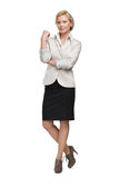 Full length portrait of business woman Royalty Free Stock Photo
