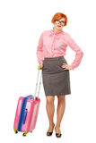Full length portrait of a Business woman in glasses  in business Stock Photos