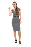 Full length portrait of business woman got idea Royalty Free Stock Images