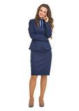 Full length portrait of business woman Stock Images