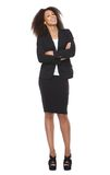 Full length portrait of a business woman smiling Royalty Free Stock Photography