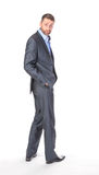 Full length portrait businessman Stock Photo