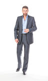 Full length portrait businessman Royalty Free Stock Photo
