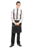 Full length portrait of businessman with a briefcase Royalty Free Stock Image