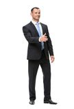 Full-length portrait of businessman handshaking Stock Photography