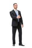 Full-length portrait of businessman handshaking Stock Photography