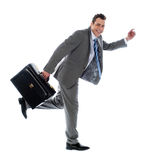 Full length portrait of a businessman running away Stock Photos