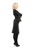 Full length portrait of a businesswoman Royalty Free Stock Images