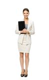 Full-length portrait of businesswoman with documents Stock Images
