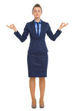 Full length portrait of calm business woman Stock Images