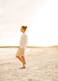 Full length portrait of calm young woman standing Royalty Free Stock Image