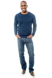 Full length portrait of a casual man Royalty Free Stock Photos