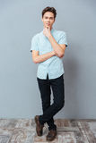 Full length portrait of a casual man Royalty Free Stock Image