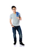 Full length portrait of a casual man standing Royalty Free Stock Image