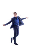 Full length portrait of a casual young man. Full length portrait of a stylish casual young man Royalty Free Stock Photos