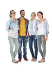 Full length portrait of casually dressed people Stock Image