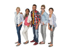 Full length portrait of casually dressed young people Stock Image