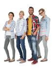 Full length portrait of casually dressed young people Stock Photography