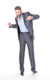 Full length portrait of cheerful business man Royalty Free Stock Photo