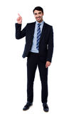 Full length portrait of cheerful businessman Stock Photography