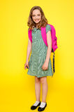 Full length portrait of cheerful school girl Stock Image