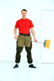 Full length portrait of a cleaner Stock Photography