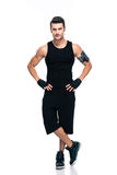 Full length portrait of a confident fitness man Royalty Free Stock Photos