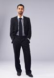 Full Length Portrait of a Confident Young Boss Royalty Free Stock Image
