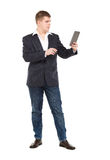 Full Length Portrait Confident Young Businessman with a Modern T Stock Image