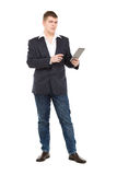 Full Length Portrait Confident Young Businessman with a Modern T Stock Images