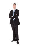 Full Length Portrait Of Confident Young Businessman Stock Images