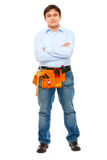Full length portrait of construction worker Stock Photo