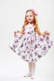 Full length portrait of a cute little dancing girl Royalty Free Stock Photo
