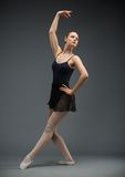 Full-length portrait of dancing athlete Royalty Free Stock Images