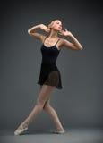 Full-length portrait of dancing ballet dancer Royalty Free Stock Image
