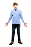 Full length portrait of dissatisfied man Stock Image