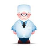 Full length portrait of elderly doctor Stock Image