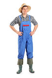 Full length portrait of a farmer posing Stock Image