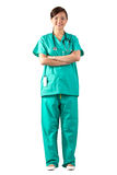 Full length Portrait of a Female Doctor Royalty Free Stock Images