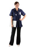 Full length Portrait of a Female nurse Royalty Free Stock Photos